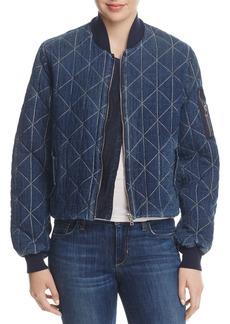 Hudson Jeans Hudson Quilted Denim Bomber Jacket
