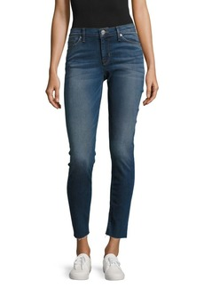 Raw Edge Skinny Ankle Jeans