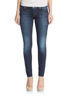 Hudson Raw-Hem Ankle Skinny Jeans