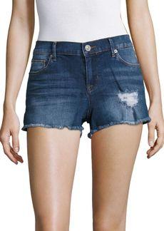 Raw-Hem Denim Shorts
