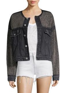 Hudson Jeans Rei Embellished Denim Jacket