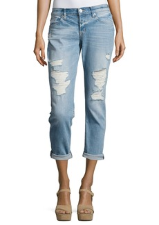 Hudson Riley Crop Relaxed Straight Jeans