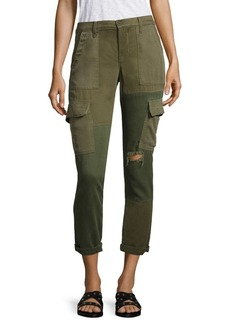 Riley Distressed Cropped Utility Cargo Pants
