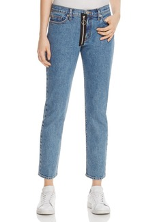 Hudson Riley Relaxed Straight Crop Jeans in Diehard - 100% Exclusive