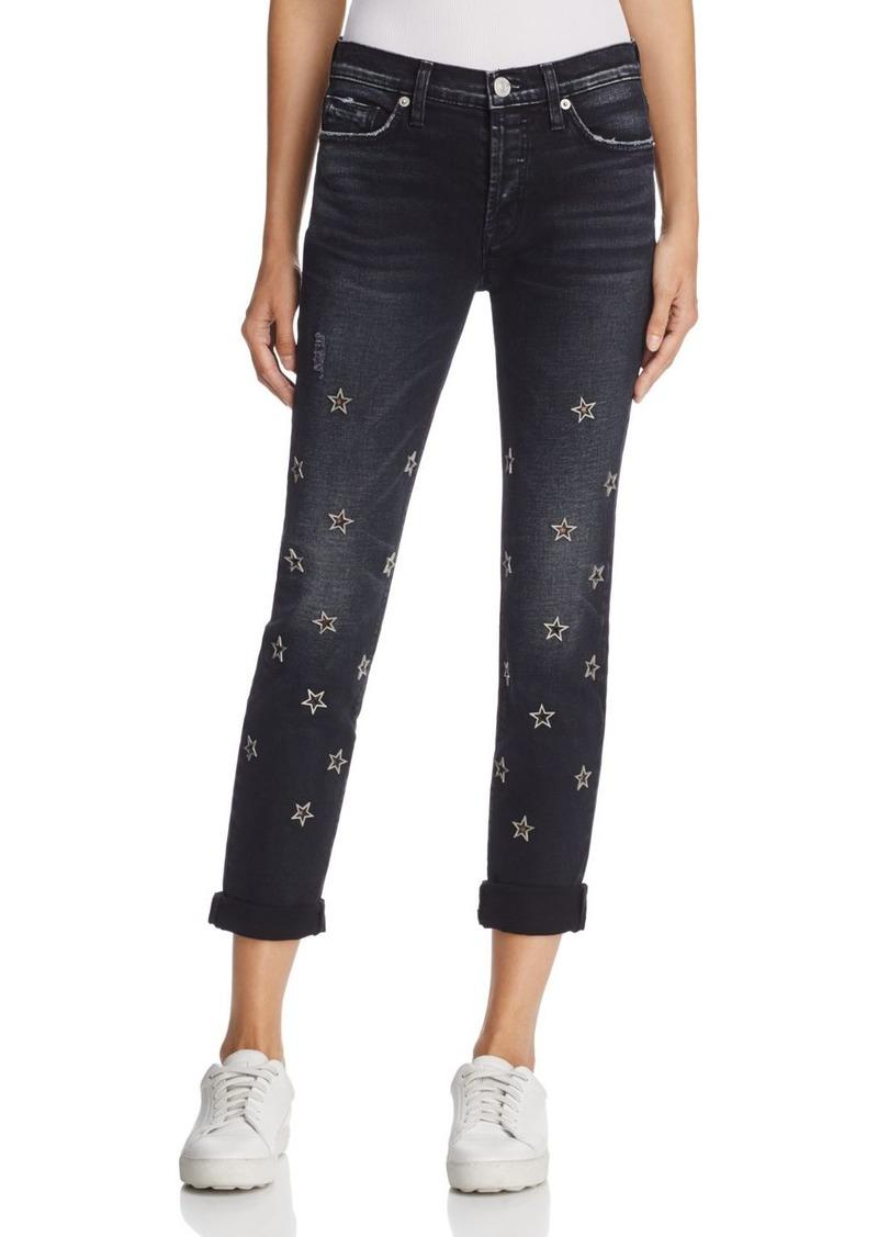 Hudson Jeans Hudson Riley Star Embellished Straight Jeans in Mythology