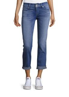 Hudson Roll-Cuff Straight-Leg Jeans