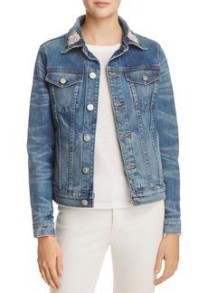 Hudson Jeans Hudson Rose Embroidered Classic Denim Jacket in Distinction