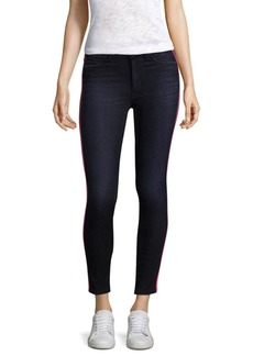 Hudson Jeans Rozz High-Rise Racing Stripes Skinny Jeans
