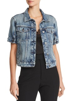 Hudson Jeans Hudson Ruby Short-Sleeve Denim Jacket in Hideaway