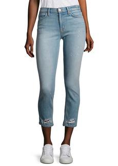 Hudson Jeans Hudson Savy Distressed Cropped Straight-Leg Jeans