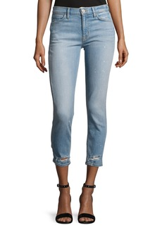 Hudson Savy Mid-Rise Crop Straight Denim Jeans