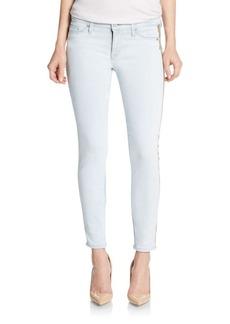 Hudson Luna Embellished Cropped Super Skinny Jeans