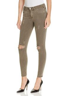 Hudson Skinny Jeans in Loden Green