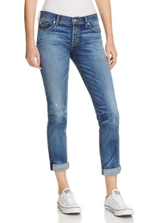 Hudson Slim Boyfriend Jeans in Medium Blue