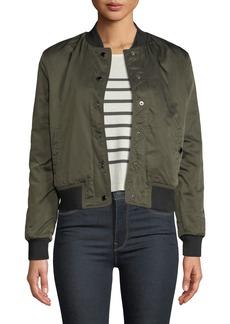 Hudson Jeans Hudson Snap-Front Bomber Jacket