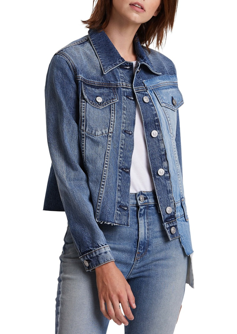 Hudson Jeans Hudson Spliced Denim Trucker Jacket
