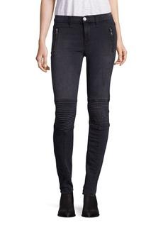 Hudson Stark Moto Faded Skinny Jeans