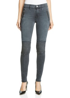 Hudson Stark Skinny Moto Jeans in Disillusioned