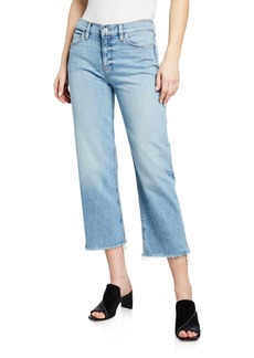 Hudson Jeans Hudson Stella Mid-Rise Cropped Straight-Leg Jeans