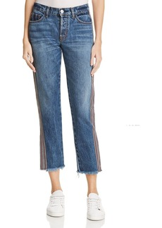 Hudson Stripe Riley Luxe Crop Jeans in Forgiver