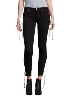 Hudson Suki Lace-Up Skinny Ankle Jeans