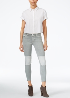 Hudson Jeans Suzzi Patched Skinny Jeans