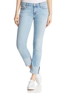 Hudson Tally Crop Deep-Cuff Straight Jeans in Gemini