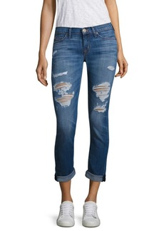 Hudson Tally Distressed Cropped Skinny Jeans