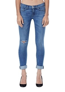 Tally Distressed Cropped Skinny Jeans