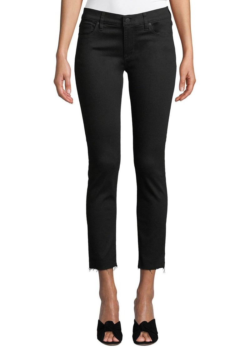 Hudson Jeans Hudson Tally Mid-Rise Cropped Skinny Jeans with Destroy Hem