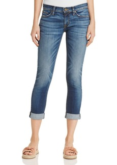 Hudson Tally Roll Crop Jeans in Contender