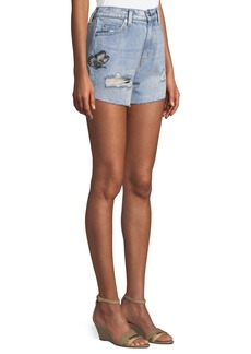 Hudson Jeans The Staple Embroidered Cutoff Denim Shorts