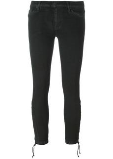 Hudson Jeans Hudson tie hem skinny cropped trousers - Black