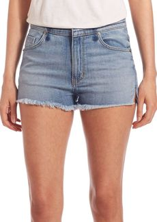Hudson Tori Slouch Frayed Cut Off Shorts