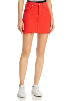 Hudson Jeans Hudson Viper Denim Mini Skirt in Cherry