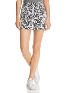 Hudson Jeans Hudson Viper Leopard-Printed Mini Skirt