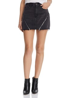 Hudson Jeans Hudson Viper Multi-Zip Denim Mini Skirt in Void