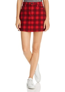 Hudson Jeans Hudson Viper Plaid-Printed Mini Skirt