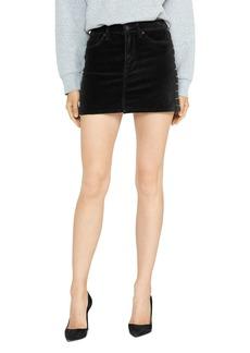 Hudson Jeans Hudson Viper Studded Velvet Mini Skirt