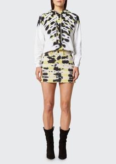 Hudson Jeans Hudson Viper Tie-Dye Mini Skirt