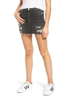 Hudson Vivid Cutoff Denim Miniskirt