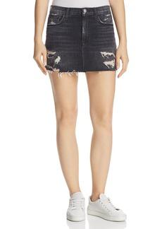 Hudson Jeans Hudson Vivid Denim Mini Skirt in Pretender
