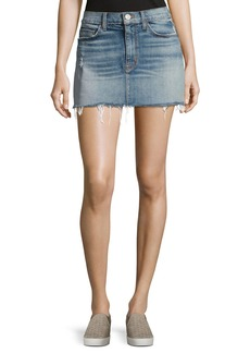 Hudson Jeans Hudson Vivid Denim Mini Skirt W/ Released Hem