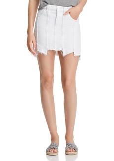 Hudson Jeans Hudson Weekender Paneled Denim Skirt in White