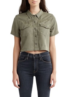 Hudson Jeans Hudson Western Cropped Snap-Front Shirt