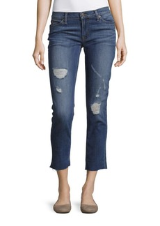 Hudson Jeans Whiskered Skinny-Fit Jeans