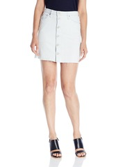Hudson Jeans Women's Cammy Button Front Raw Hem Jean Skirt
