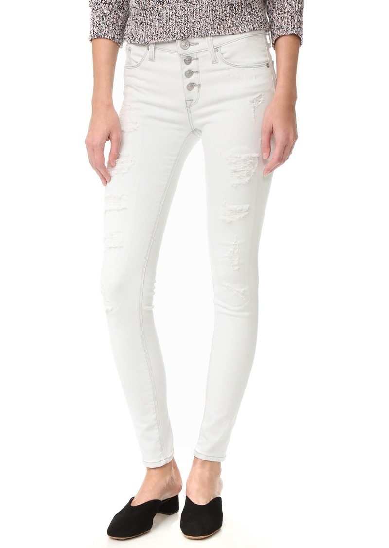 Hudson Jeans HUDSON Women's Ciara Skinny Jeans with Exposed Buttons