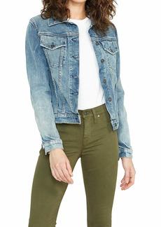 Hudson Jeans HUDSON Women's Classic Fitted Denim Trucker Jacket  SM