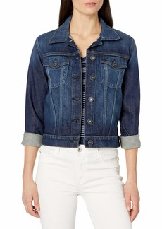 Hudson Jeans HUDSON Women's Classic Fitted Trucker Jacket  MD